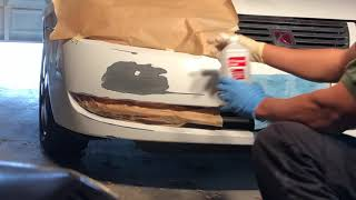 How to paint a car without removing things/parts part 1