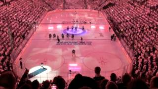 Winnipeg Jets White Out!!  First home playoff game in 19 years. Game 3 vs Anaheim Ducks