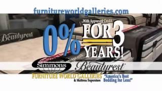 Furniture World Galleries Beautyrest Queen Bed - $599