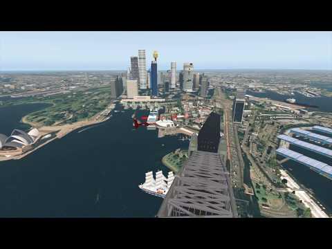 X Plane 11 Ortho4XP  Sydney Tour