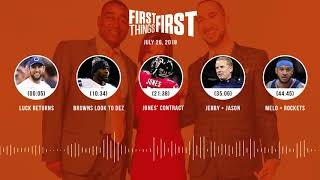 First Things First audio podcast(7.26.18) Cris Carter, Nick Wright, Jenna Wolfe | FIRST THINGS FIRST