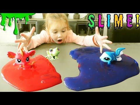 On transforme des Petshops en Slime grace à une machine à laver magique ! Magic Washing Machine !