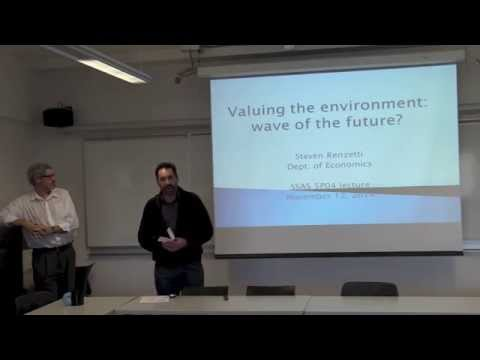 """SSAS Transdisciplinary Lecture: """"Economic methods for valuing the environment"""""""