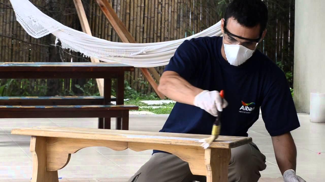 Tutorial c mo pintar 9 maderas con esmalte youtube - Aprender a pintar en madera ...