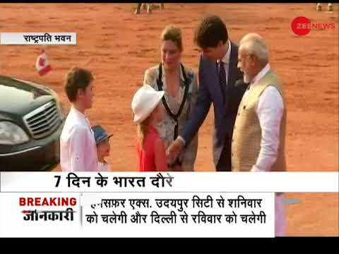 Prime Minister Modi welcomes Canadian PM Justin Trudeau