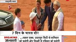 Prime Minister Modi welcomes Canadian PM Justin Trudeau