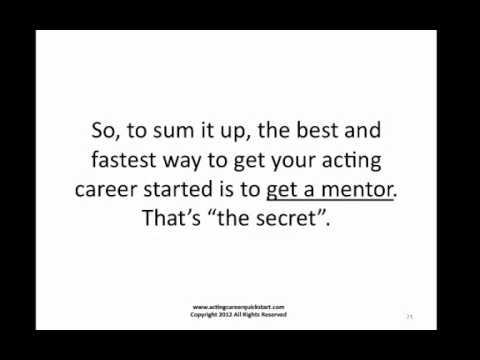 how to start an acting career - acting career quick start - acting career coach