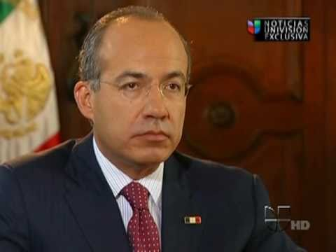 Calderon aborda tema de narcotráfico
