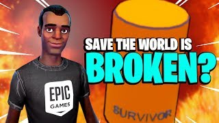 IS IT REALLY BROKEN Fortnite Save the World Bugs, Duplication Glitch, Crashes Console Lag PvE