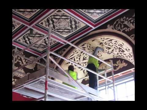 2010 youtube video showing re-instatement decoration in the Queen's audience chamber of Stirling Palace
