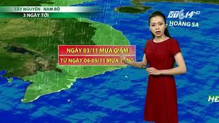 VTC14   Thời tiết cuối ngày 02/11/2017  Bắc Bộ trong 2 ngày 3-4/11 khối khí lạnh tăng cường trở lại