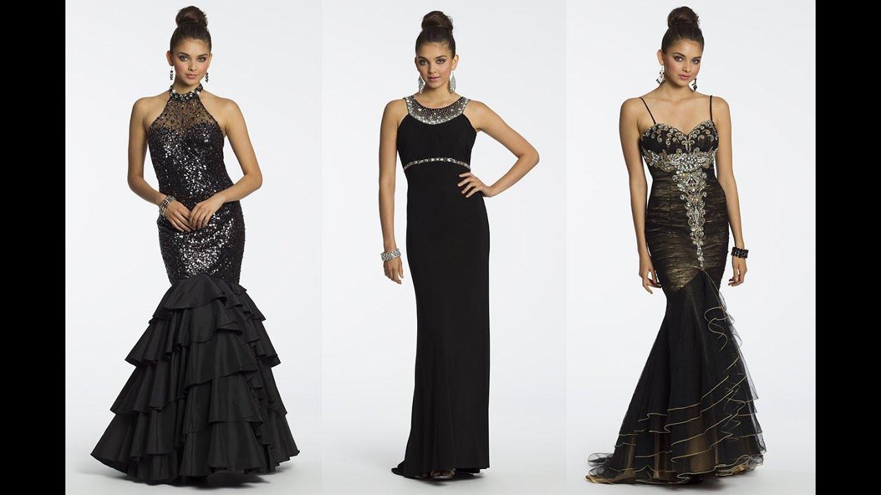 Top 100 Long black dresses, long evening dresses for women - YouTube