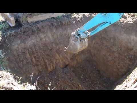 Копка пруда нашим мини экскаватором на участке в Вологодской области