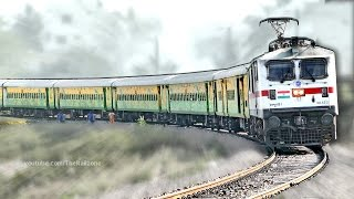First Time WAP7 with DURONTO Express | HWH -YPR | Indian Railways