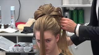 Big volume hairstyle. Farrukh Shamuratov