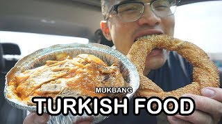 First time eating authentic TURKISH FOOD *MUKBANG
