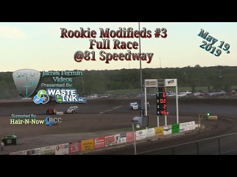 (Rookie) Modifieds #29, Full Race, 81 Speedway, 05/19/19