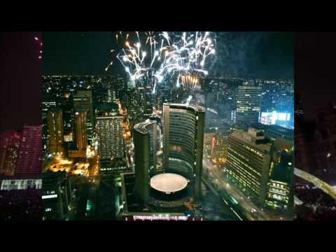 2017 celebration in Great Toronto Area ,Canada - Fireworks,Fojeba-Merci,Dance music