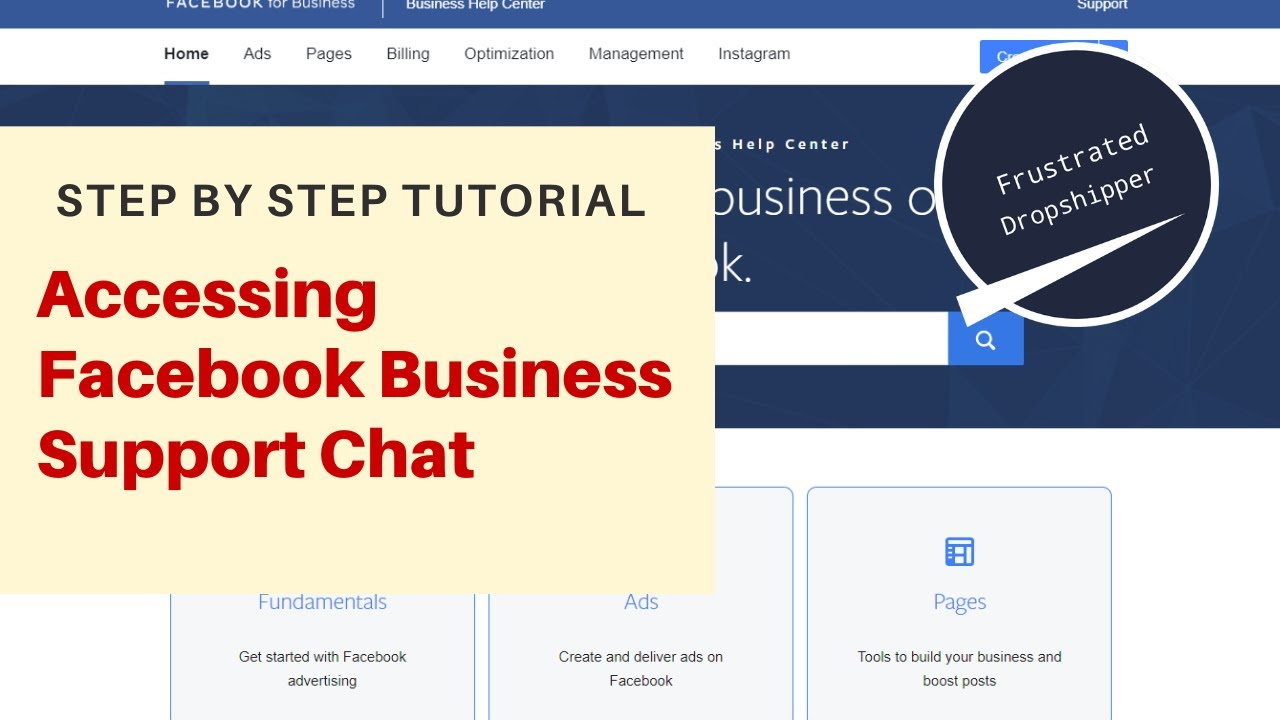 Accessing Facebook Business Live Support Chat