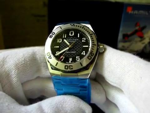 Hamilton H78615135 Men S Khaki Navy Sub Auto Watch