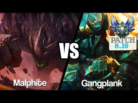 Vidéo d'Alderiate : [FR] MALPHITE VS GANGPLANK - J'APPRENDS A FARMER - 8.19 - DIAMANT 1