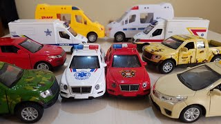 Video for Kids: police cars ambulance and fire trucks, DHL Video for Kids