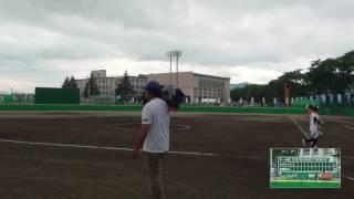 1日 ソフトボール女子 長井市野球場 聖カタリナ学園×京都西山 3回戦 1