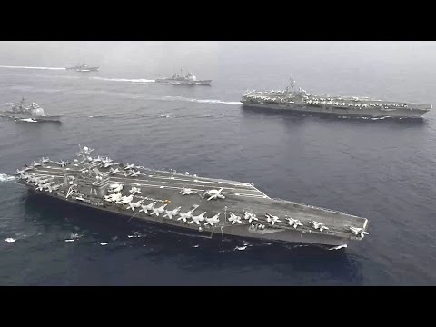 US Sends Message To China With Two Aircraft Carriers Sail Philippine Sea
