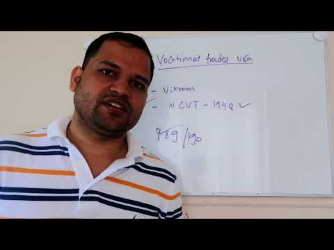 Vocational tradesman PR visa Australia    Visa for NCVT, ITI and SCVT occupations