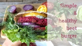 How to make our diet is not just diverse, but also useful? #healthy #burger #beet #gluten-free
