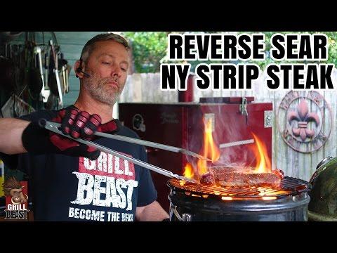 Reverse Sear NY Strip Steak - Grill Beast