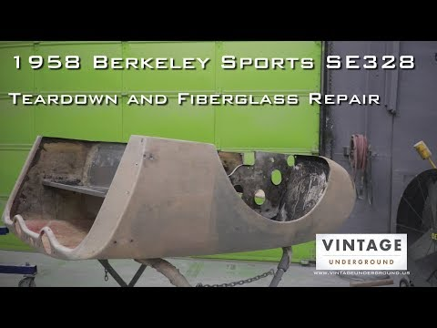 1958 Berkeley Sports SE328 | Teardown and Fiberglass Repair | Vintage Underground Restorations