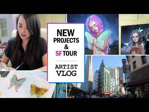 #ASKHAPPYDARTIST & new projects & SF tour // ARTIST VLOG 18