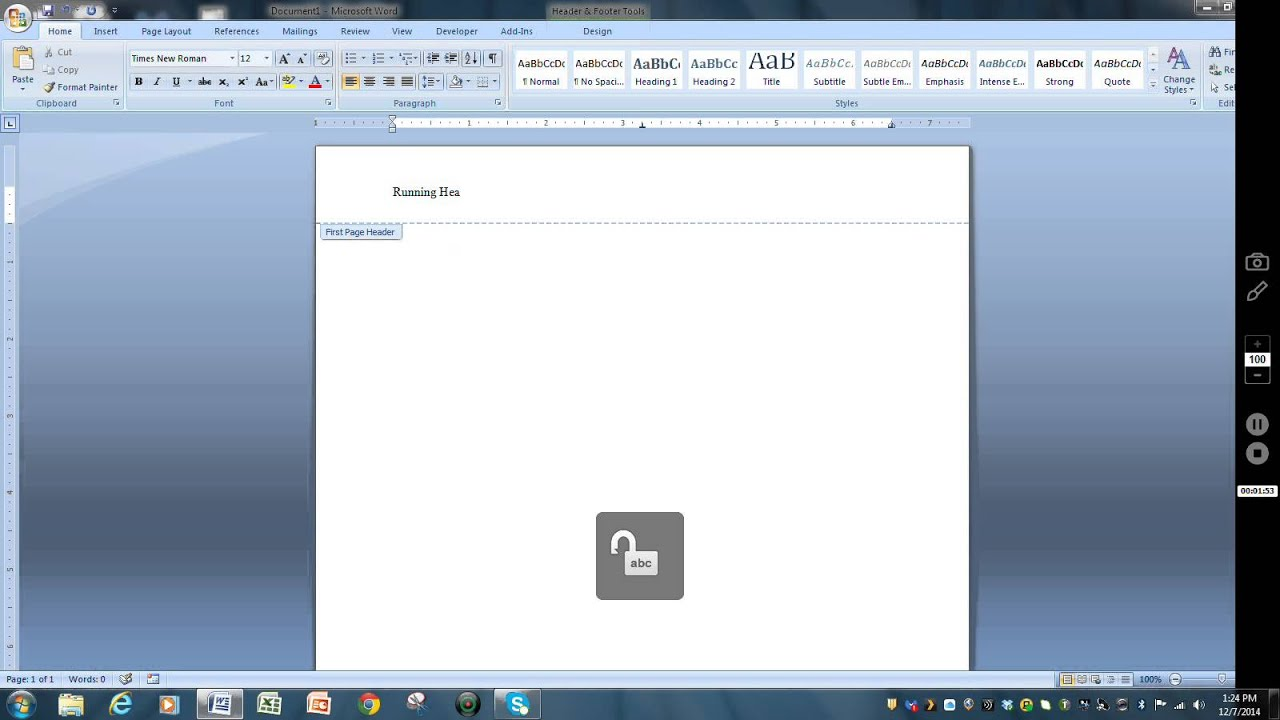 how to add title page in word document