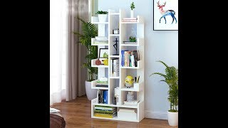 How to Assembly Floor Standing Book Shelf Home Decor Display Storage Organiser Rack DIY Home Decor