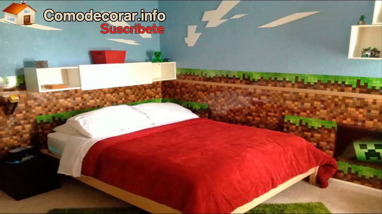 Habitaciones de minecraft youtube for Cortinas para recamara