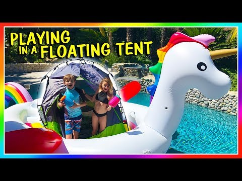 PLAYING IN A FLOATING TENT | We Are The Davises