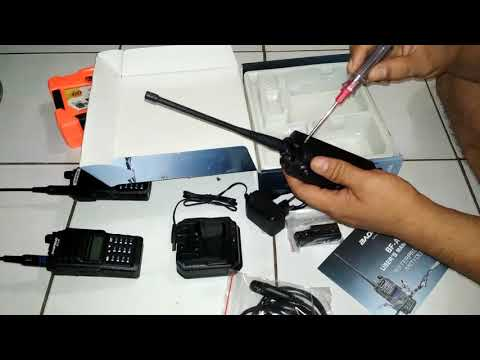 Unboxing Baofeng BF-A58 + Antena Nagoya NA 773 (Kota Medan).mp4