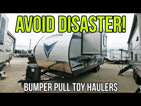 BIG CAUTION With Travel Trailer Toy Haulers! Vengeance Rogue 21V
