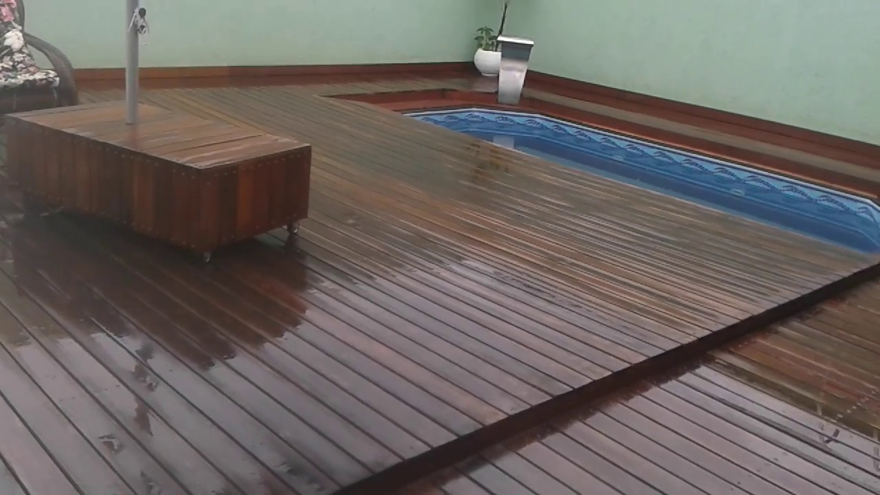 Deck retr til para piscina youtube for Piscinas desmontables para patios pequenos