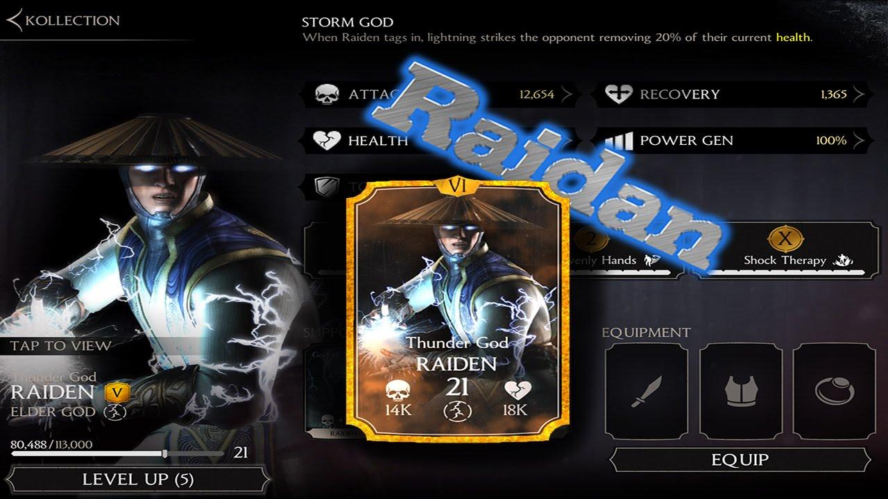 Raiden Mortal Kombat X Mobile 1 2 Ios Android Gameplay Youtube