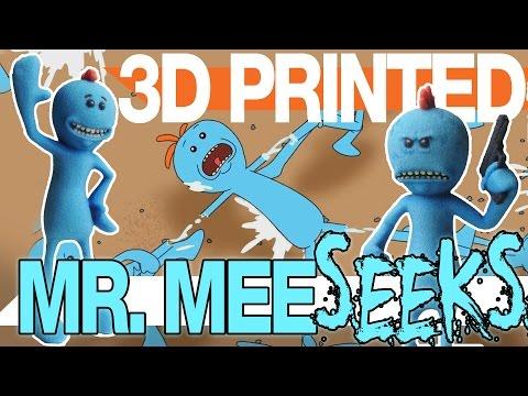 Mr Meeseeks - 3D Printing Rick and Morty Stuff