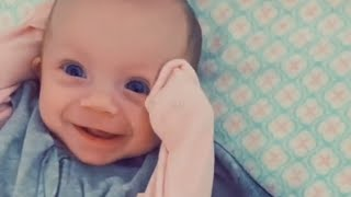 Baby Wakes Up Happy and Smiles While Being Unswaddled After Nap