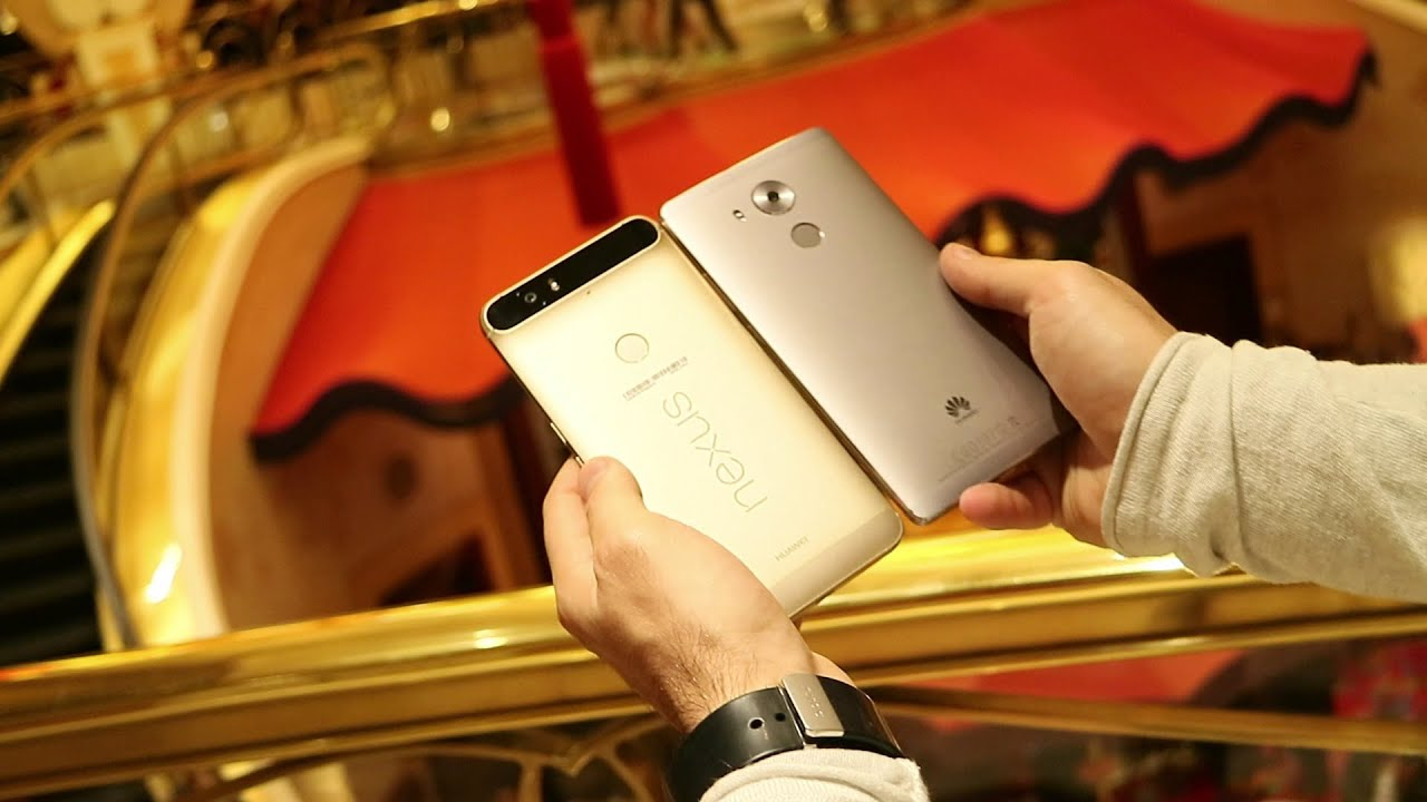 nexus 6p gold e huawei mate 8 unboxing da ces 2016 youtube