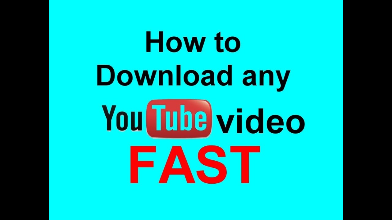 How to download Youtube videos (FAST) - YouTube