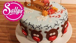 Weihnachtstorte mit Rentier-Motiv / Rendeer Christmas Cake