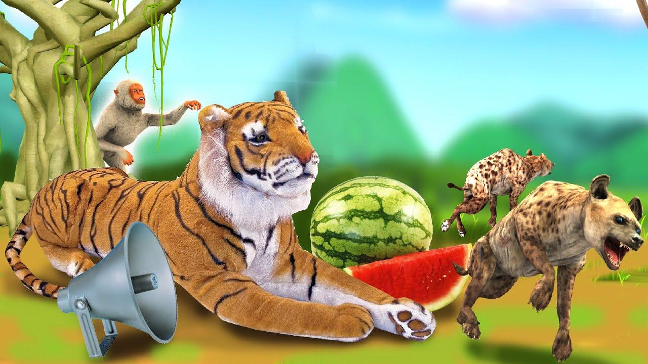 तरबूज फार्म में नकली बाघ Fake Tiger in Watermelon Farm Hindi Panchatantra Moral Storiesहिंदी कहनिया