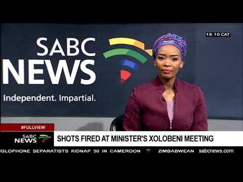Shots fired at Minister Mantashe's Xolobeni meeting