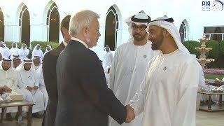 بالصور.. محمد بن زايد يستقبل عددا من رؤساء شركات النفط