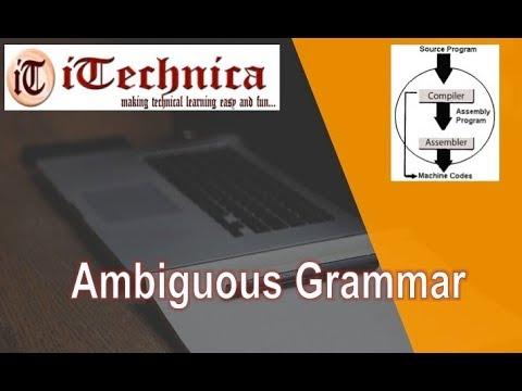 26. Ambiguous Grammar
